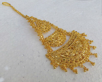 South Indian Style Gold Plated Bridal Jewelry Side head Decoration Jhoomar Tikka