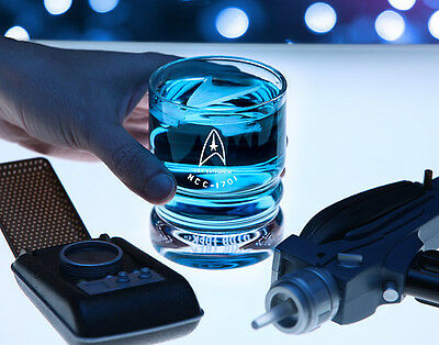 Star Trek Whisky Collectors Scotch Glass Trekkie Starship Enterprise NCC-1701