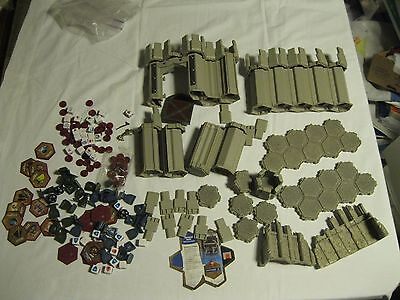 Large Lot Heroscape Game Fortress Archkyrie Castle Wall Tower Tiles Dice