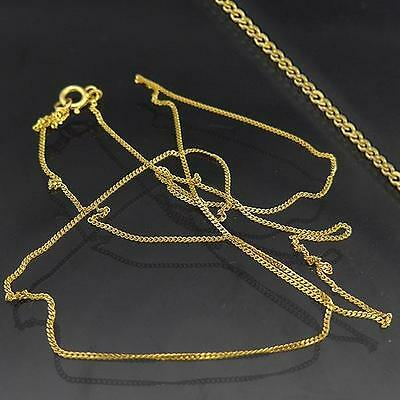 Fine Lightweight 9ct Solid Yellow GOLD CURB LINK PENDANT CHAIN Necklace