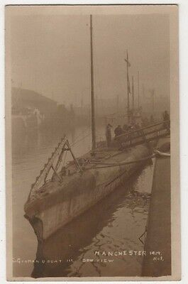 German U Boat, Bow View at Manchester Ship Canal RP Postcard, B598