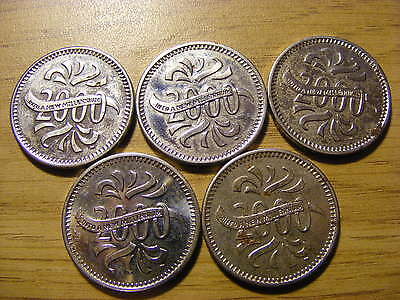 5 x Makers of the Millennium Coins - all good condition