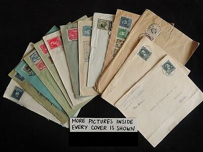 Hs-A902 Belgium: Fine Lot Of 15 Covers - Coat Of Arms - To Aachen - Express