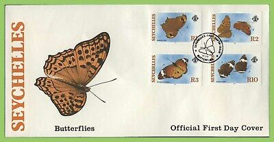 Seychelles 1987 Butterflies set on First Day Cover