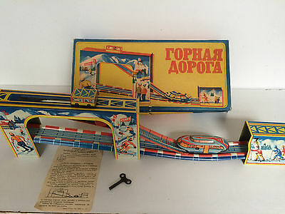 Tin Plate Toy Mountain Train Skilift - Complete And Fully Functional