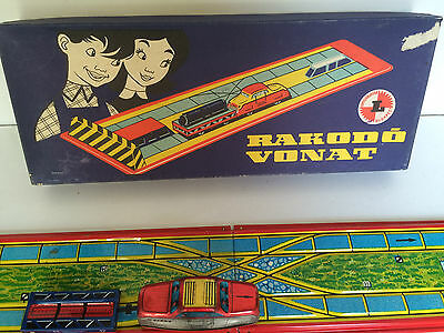 Tin Toys Wind-Up Train Vintage Rakodo Vonat - Complete And Fully Functional