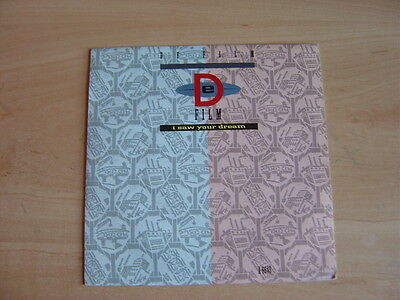 """DeFilm: I Saw You Dream 7"""": 1985 UK Release: Picture Sleeve"""