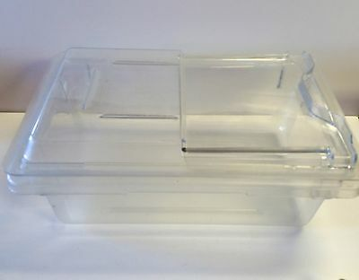 Clear polycarbonate Salad Produce Box commercial 12x18x6 NSF Cambro container