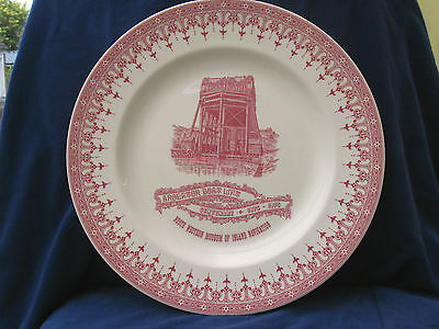 Wedgwood Canal Commemorative Plate Centenary of Anderton Boat Lift