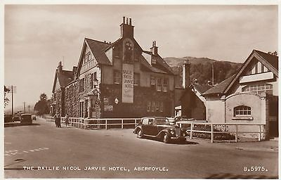Aberfoyle 2 Real Photo Postcard The Covenants Inn & Bailie Nicol Jarvie Hotel