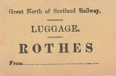 Great North of Scotland Railway Luggage Label ROTHES