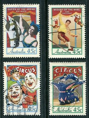 Circuses In Australia 1997 - Used Set Of Four (R24-Rr)