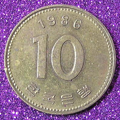 1-Coin from South Korea.  10-Won.  1986.