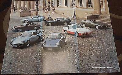 1978 Original Porsche 924 911 & 928 Poster BROCHURE All Colour BEAUTIFUL