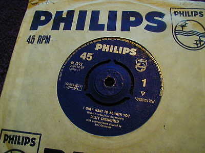 """Dusty Springfield, I Only Want To Be With You ,7"""" Vinyl"""