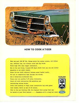 1966 Ford Fairlane Gta 390 ~ Original Print Ad