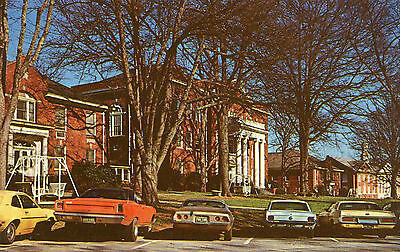 Anderson South Carolina  Anderson College With 1970's Cars Postcard