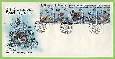 Seychelles / Zil Elwannyen Sesel 1987 Coral Reef Fishes set First Day Cover