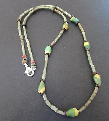 NILE  Ancient Egyptian Seed Amulet Mummy Bead Necklacec ca 1000 BC
