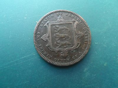 1871 1/26 Of A Shilling Queen Victoria. Jersey. Fine.