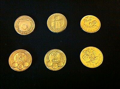 job lot of 6 rare collectable £1 coins 1 pound coins - LOOK !