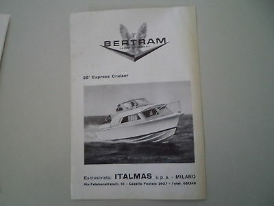 advertising Pubblicità 1963 BERTRAM 25' EXPRESS CRUISER