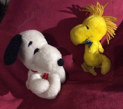 Snoopy And Woodstock Plush Soft Toys Vintage Plushes 1970's/80's
