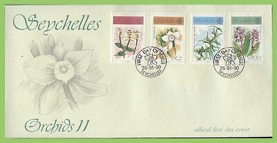 Seychelles 1990 Orchids (2nd series) set First Day Cover