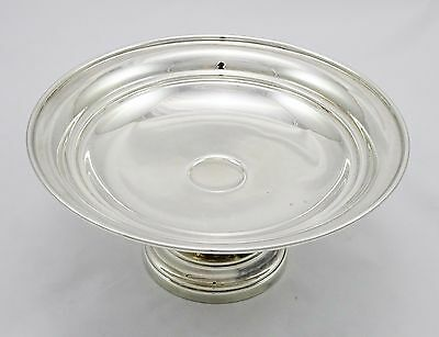 Beautiful Vintage Silver Plated Round Pedestal Cake Stand Dish Fruit Bowl Vgc
