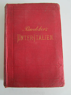 Baedekers UNTER-ITALIEN Sardinia Malta LOWER-ITALY 1883 Trvl Guide 60 photos bel