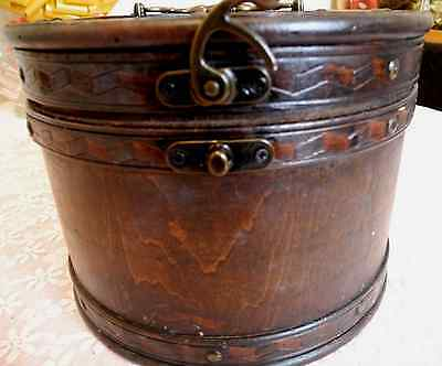 Rare Antique Wooden Victorian Hat Box From A Wolverhampton Family