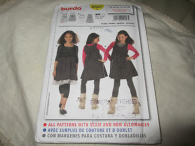 Sewing Pattern Dress by Burda 9557. For Girl Sizes.