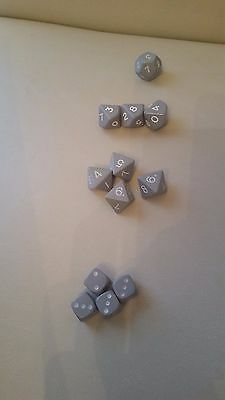 12 Grey Dice used for Space Wolves in Horus Heresy Burning of Prospero 6,8,10,12