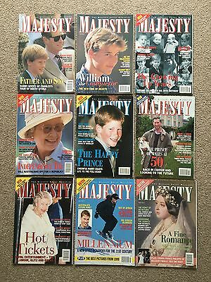 MAJESTY Vintage Royal Magazine Lot (Listed) - Princess Diana