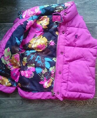 girls joules bodywarmer gillet age 4 years