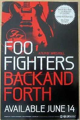 Foo Fighters - BACK AND FORTH DVD Promo Poster [2011] - VG+