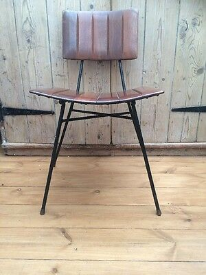 Vintage Teak and Metal Chair 1960/70s Chair
