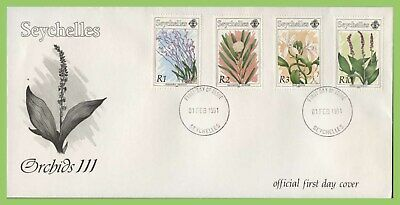 Seychelles 1991 Orchids III set on First Day Cover