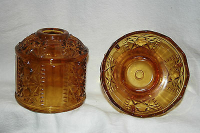 2 Homco Home Interior Amber Candle Holders Lanterns Excellent