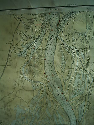 1937 Large Antique Map Columbia River St. Helens Vancouver Portland 6154 SPOTTED