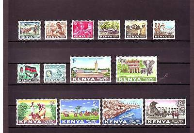 a109 - KENYA - SG1-14 MNH 1963 INDEPENDENCE DEFINITIVE SET COMPLETE