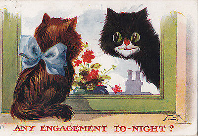 Fred Spurgin Cat Humour   Any Engagement Tonight ?