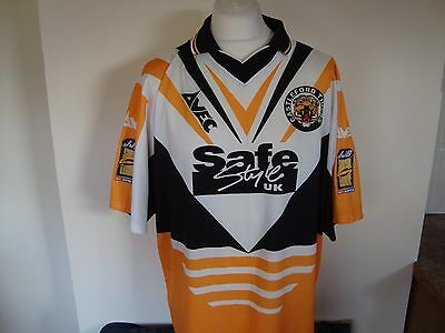 Vintage Castleford Tigers #10 DEANO Rugby League Shirt XL Mens 46/48""