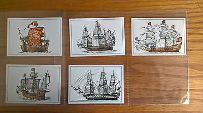 Quaker Oats cereal trade cards: Historic Ships part set 5/8 1967