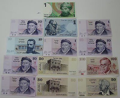 Israel Dealer Lot Nice Condition 13 Notes - M557