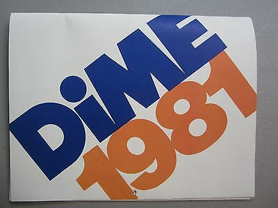 Vintage 1981 Dime Savings Bank Calendar - 13 Watercolors - Excellent Condition!
