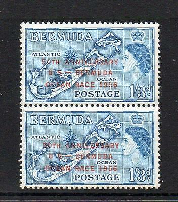 "Bermuda Mnh 1956 Sg155 1/3 Ocean Race With ""short Tail To 5 Of 1956""  Flaw"