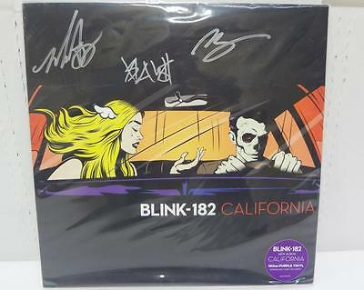 Blink-182 California Vinyl 180Gr Purple Vinyl Autographed