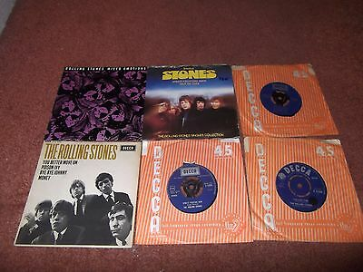 "The Rolling Stones   A Job Lot Of 6 X 7"" Singles.street Fighting Man Etc."