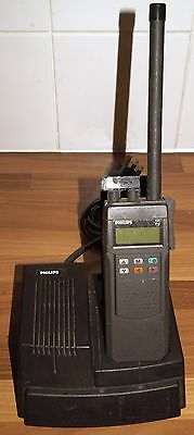 Philips PRP73 70MHz Walkie talkie programmed for 4m VHF & charger